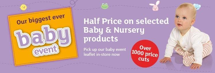 Save money on essentials at the Argos Baby Event 1