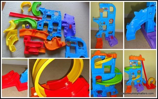 Review: Fisher Price Little People Wheelies Loops n Swoops Amusement Park 4