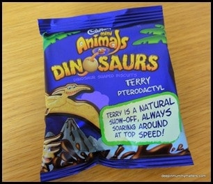 Look out there's dinosaurs about . . . but they're only chocolate!! 1