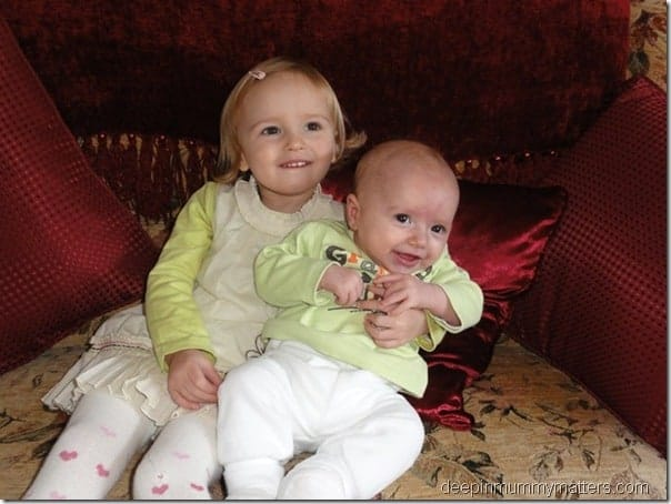 Toddler and baby