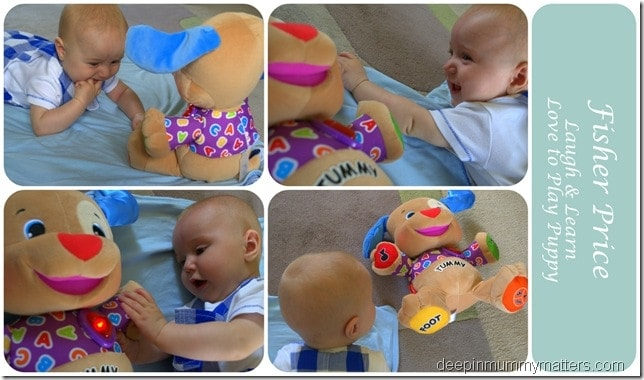 Jelly Bean's loving Fisher Price!