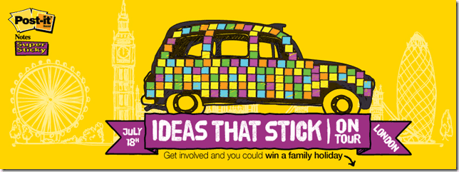 3M to Transform London Taxi with Post-it Super Sticky Notes!