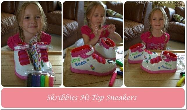 Review: Skribbies Customisable Hi-Top Sneakers 2