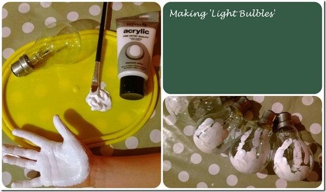 Christmas Crafting: Light Bulbles 1