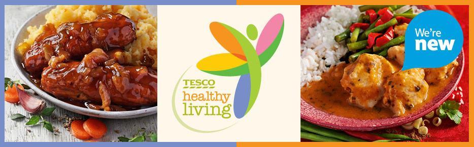 Let Tesco Healthy Living Range do the hard work for you . . . 1