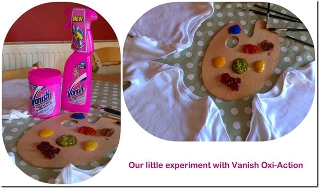 Our messy play experiment to test Vanish Oxi-Action 1