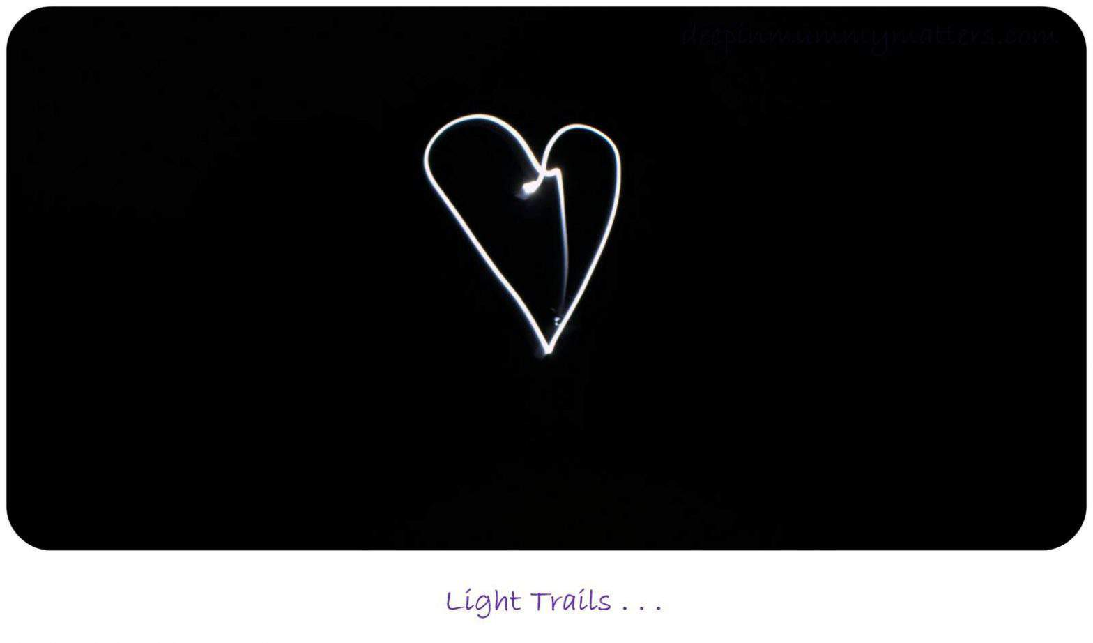 Love Heart Light Trail