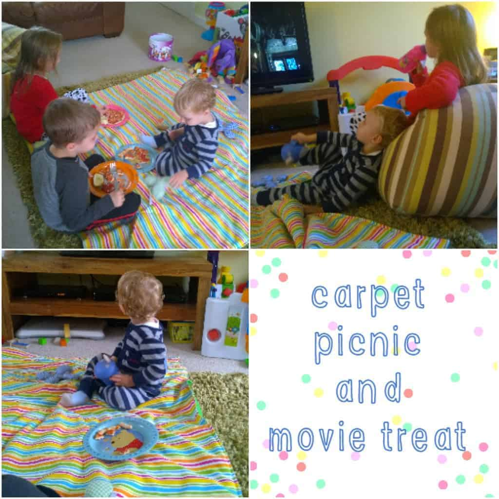 Carpet Picnic and Movie Treat
