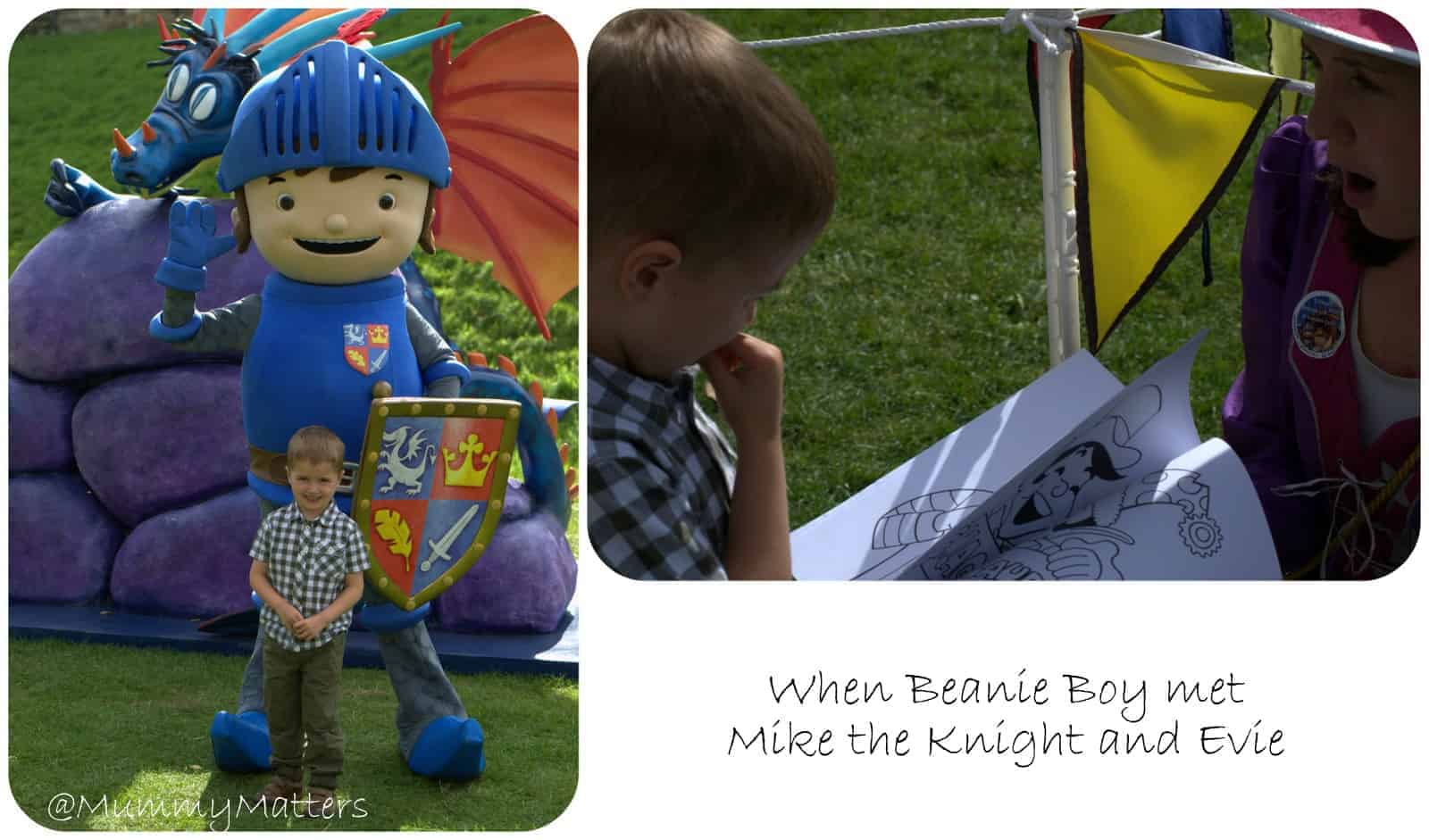 A Mother and Son day at Warwick Castle with Mike the Knight
