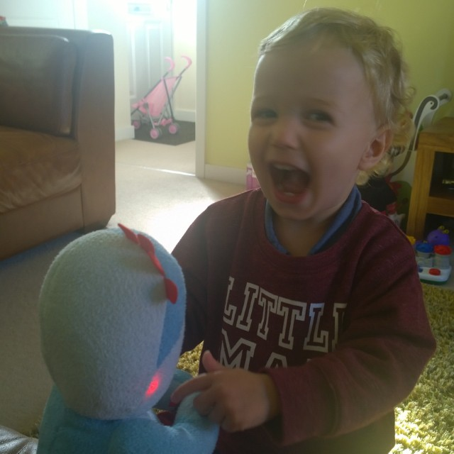 I LOVE his reaction whenever he switches IgglePiggle on @wentworth40 xx