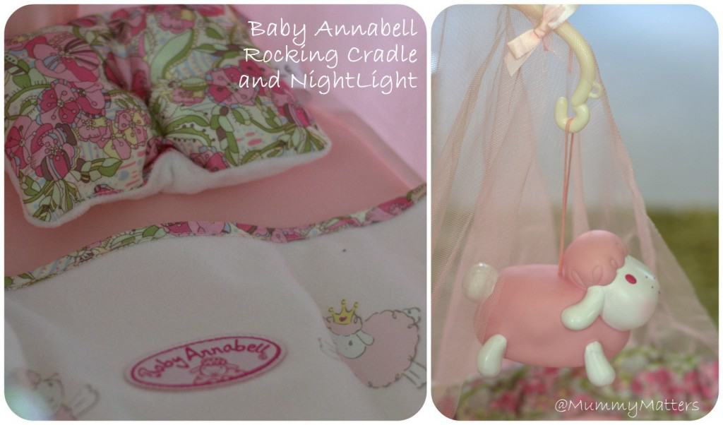 Disclaimer we were sent the baby annabell rocking crib and nightlight