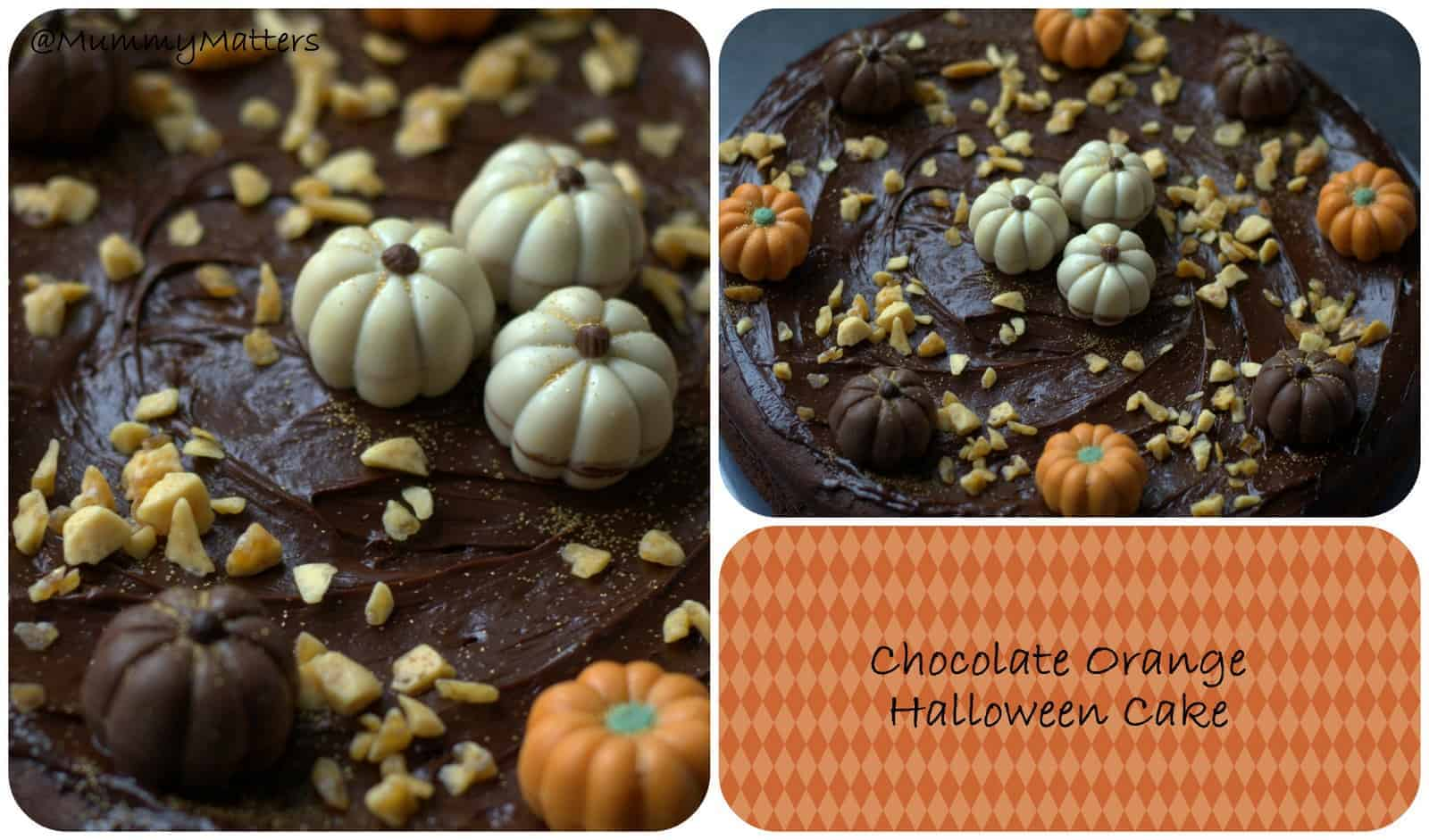 A Halloween inspired chocolate-orange cake . . .