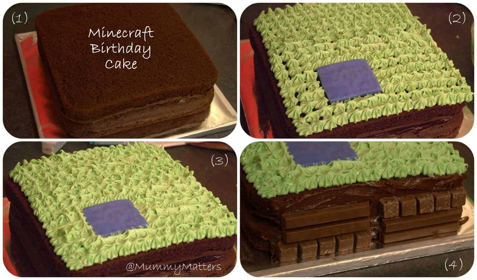 Minecraft Birthday Cake for Curly