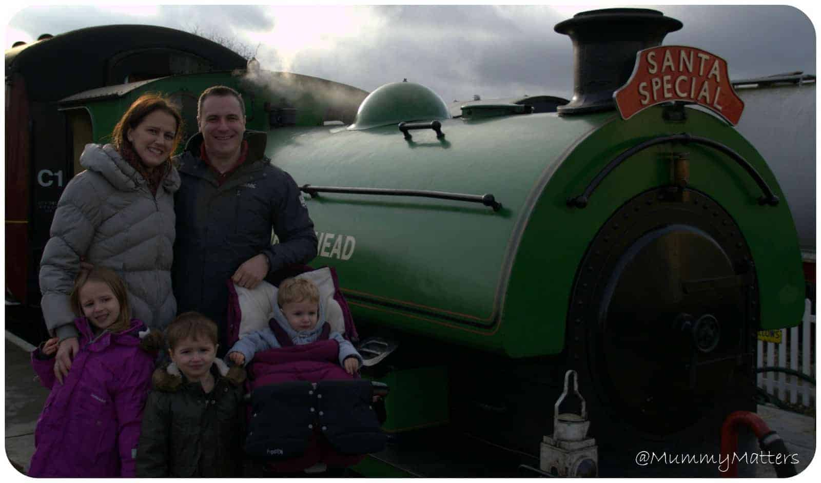 When the Beans met Santa on the Santa Special Steam Train