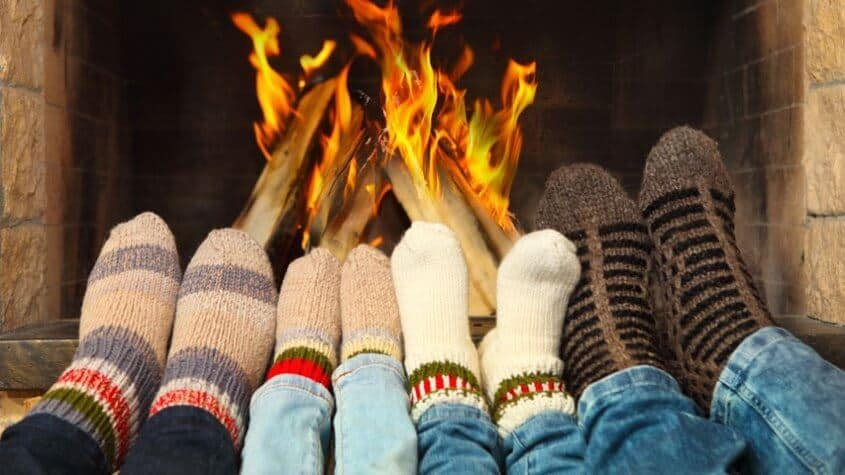 socks-by-the-fire