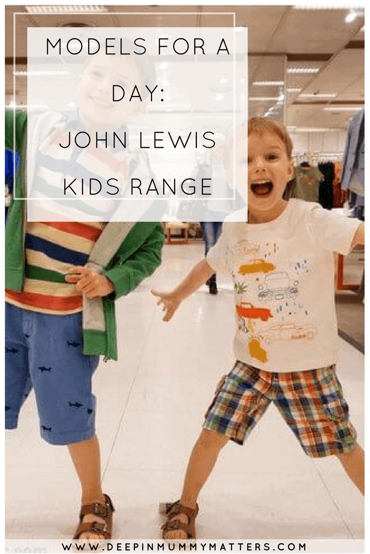 MODELS FOR A DAY: JOHN LEWIS KIDS RANGE