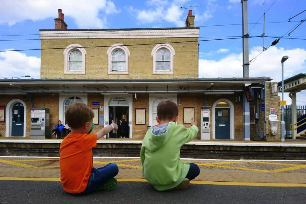 day out with the kids by train