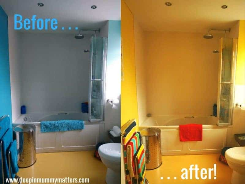 Our Master Bathroom Makeover With Valspar Paint Club Mummy Matters - Valspar bathroom paint