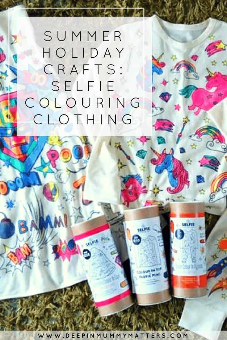 SUMMER HOLIDAY CRAFTS: SELFIE COLOURING CLOTHING