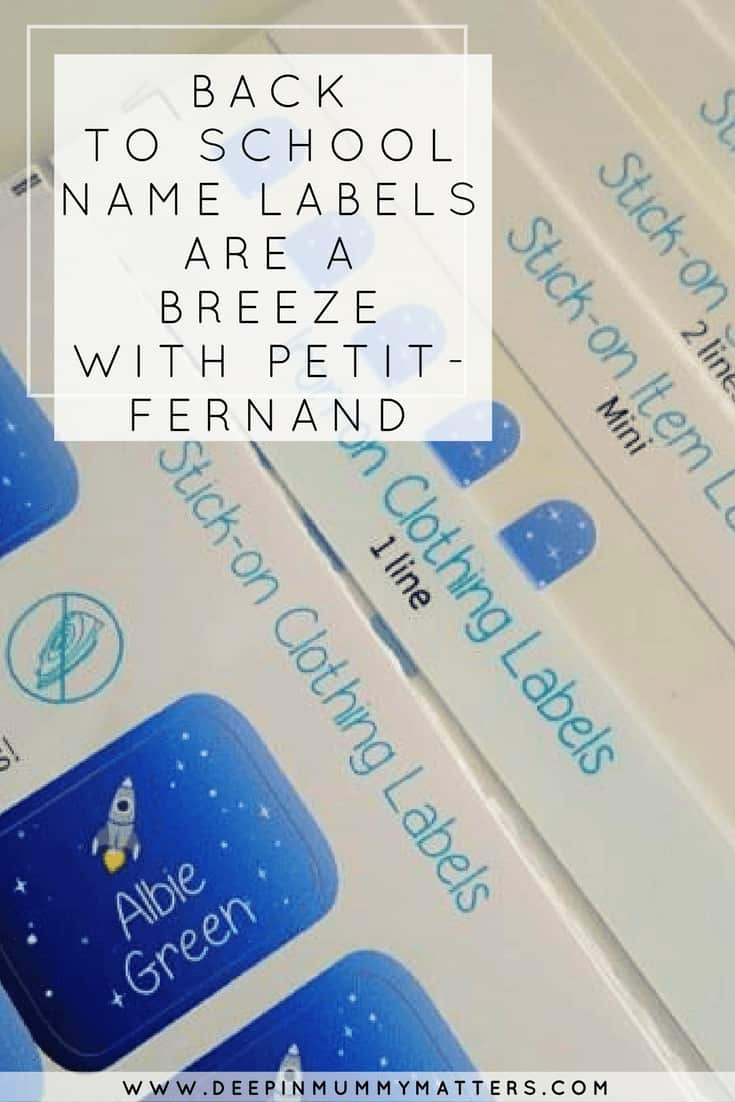 BACK TO SCHOOL NAME LABELS ARE A BREEZE WITH PETIT-FERNAND