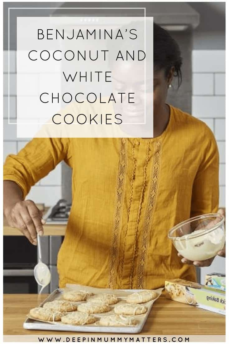 BENJAMINA'S COCONUT AND WHITE CHOCOLATE COOKIES