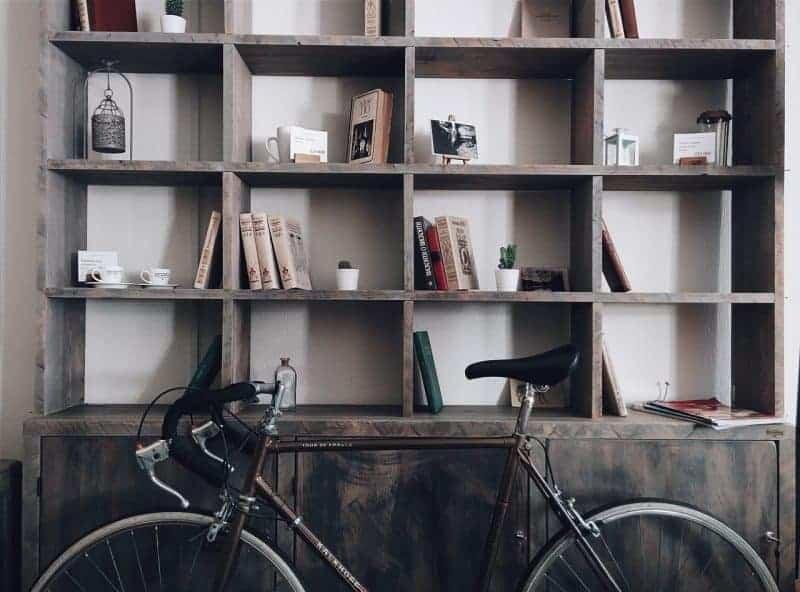 Bicycle Storage House Shelf Books Shelves Home