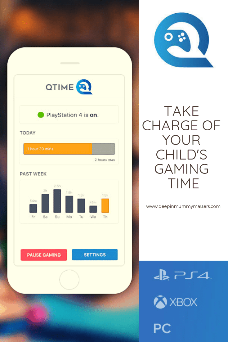 Qtime gadget for gaming addiction from James Potter