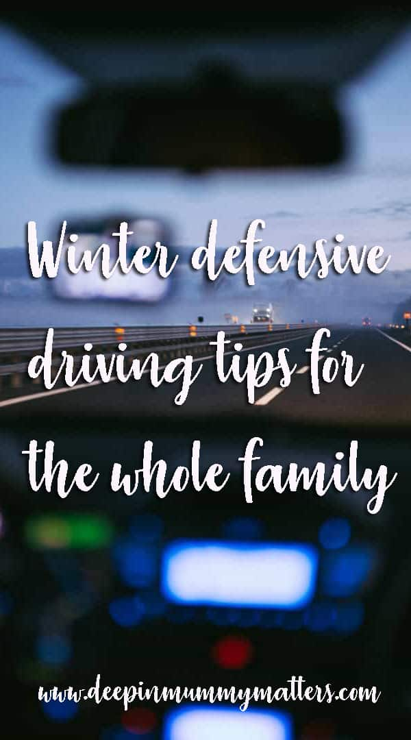 Winter defensive driving tips for the whole family