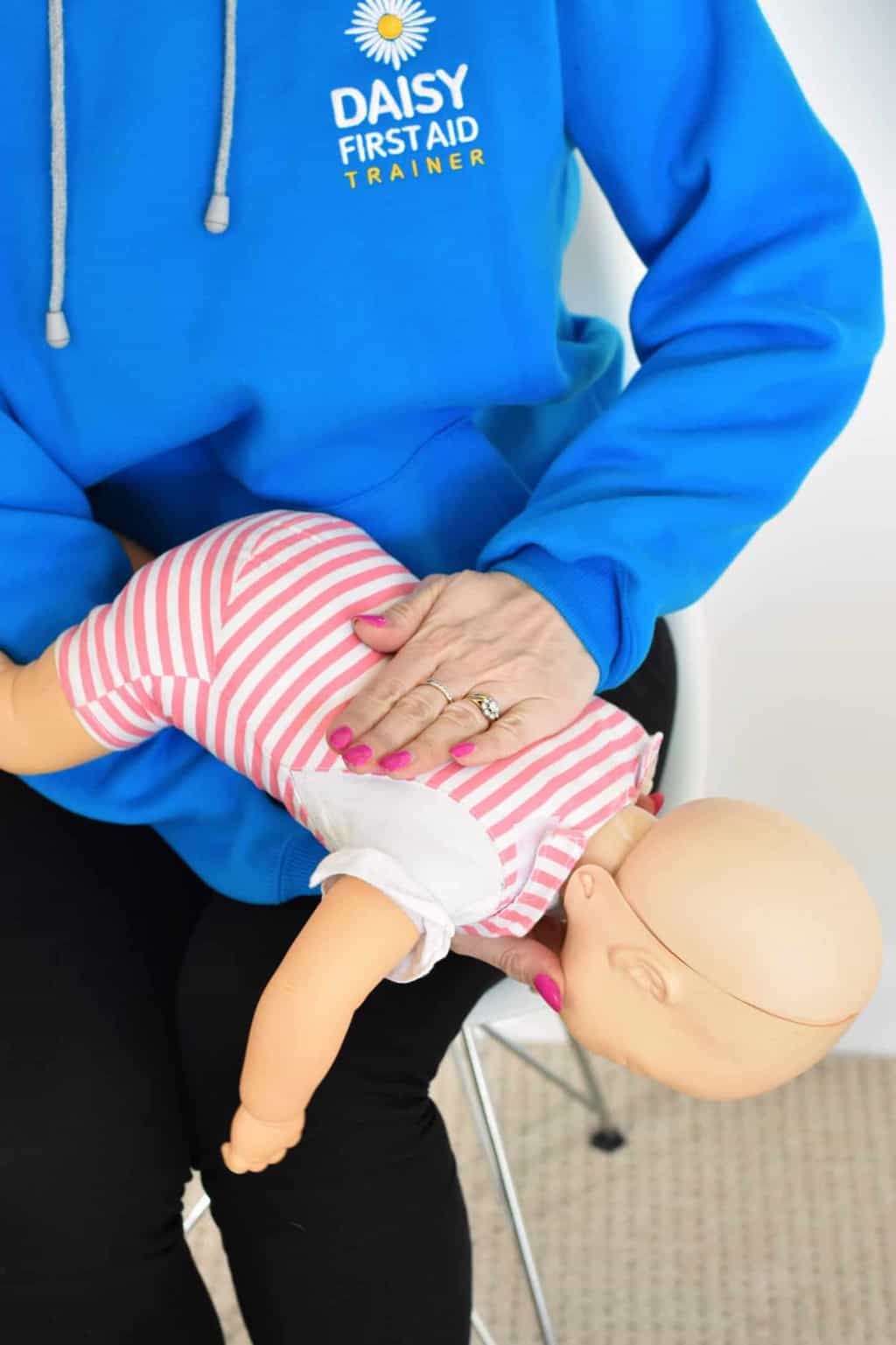 Daisy First Aid, Baby Back Blows Choking, www.daisyfirstaid.com