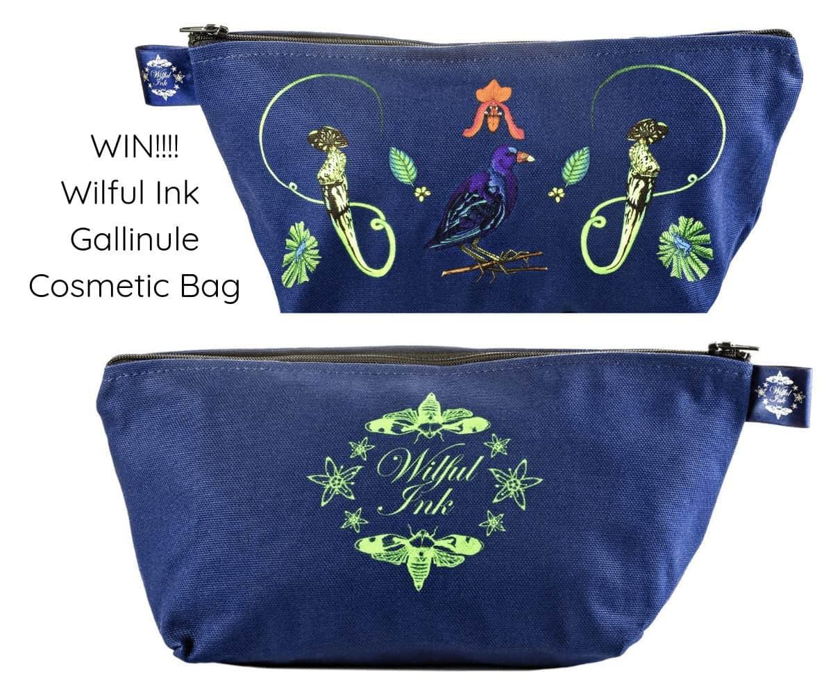 WIN!!!! Gallinule Costmetic Bag from Wilful Ink