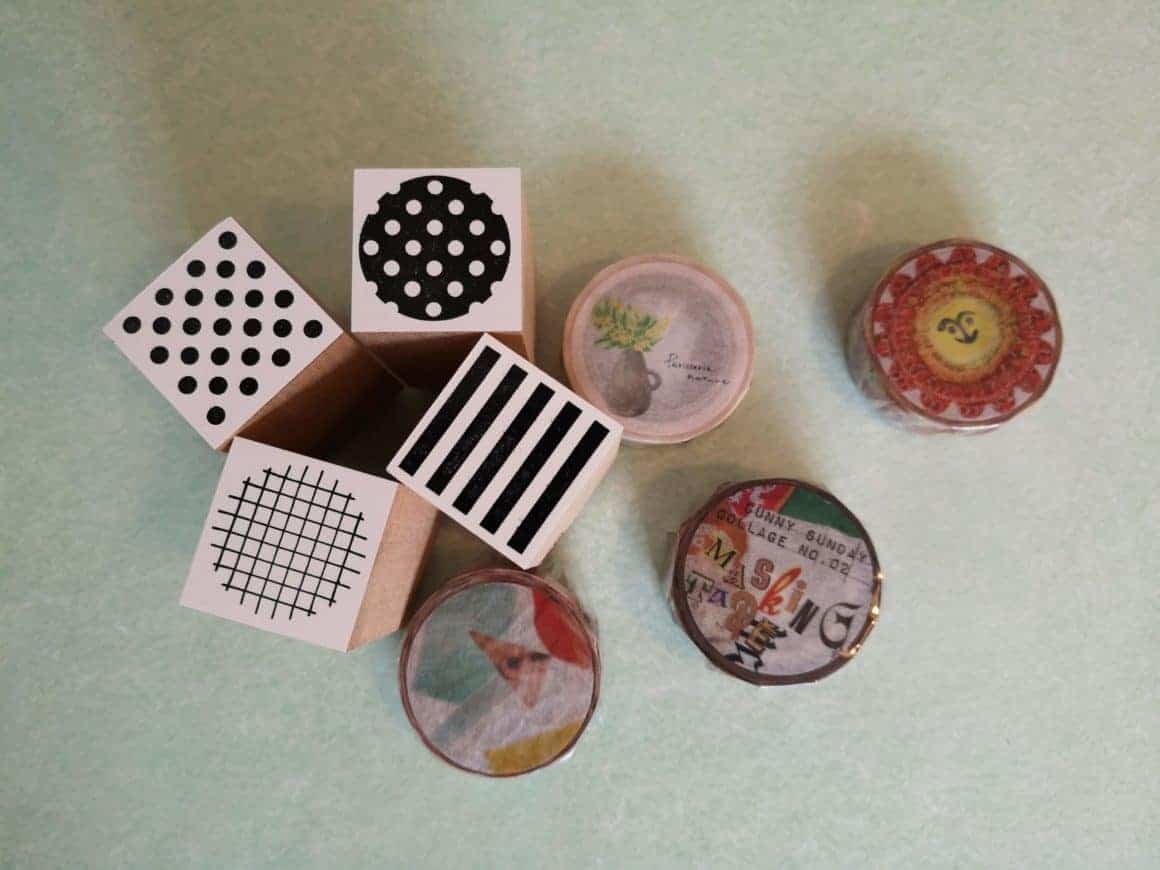 HOW wooden stamps and washi tape