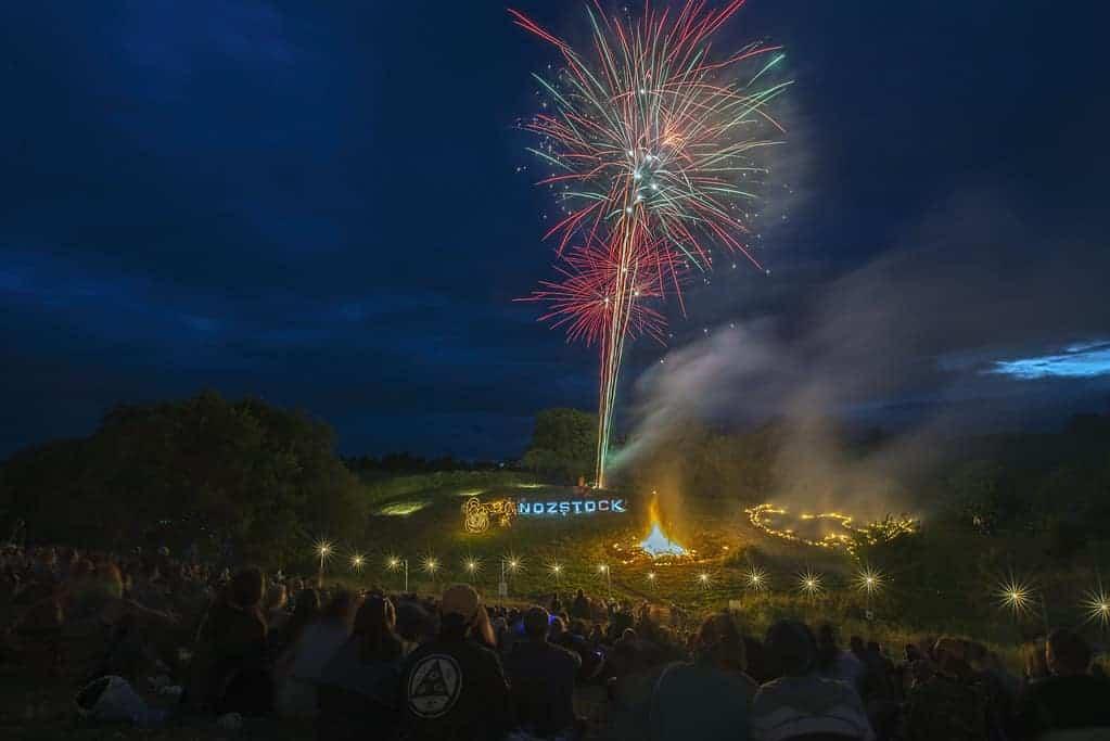 Fireworks at Nozstock Festival