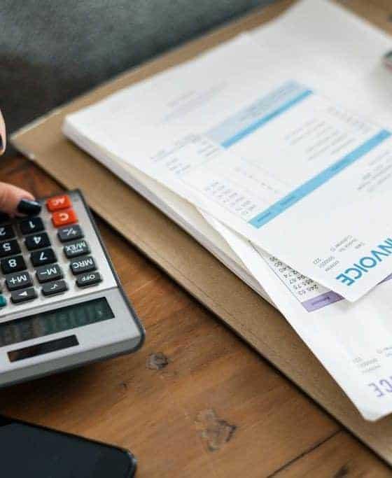 Lady preparing invoices