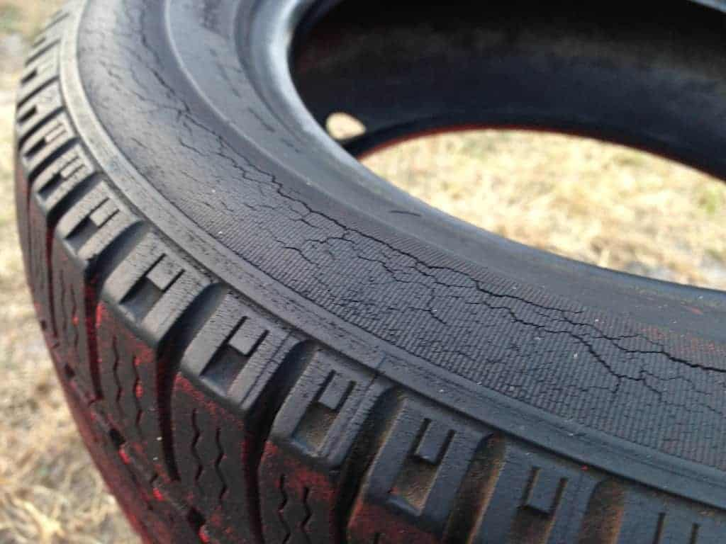 Cracked tyre walls