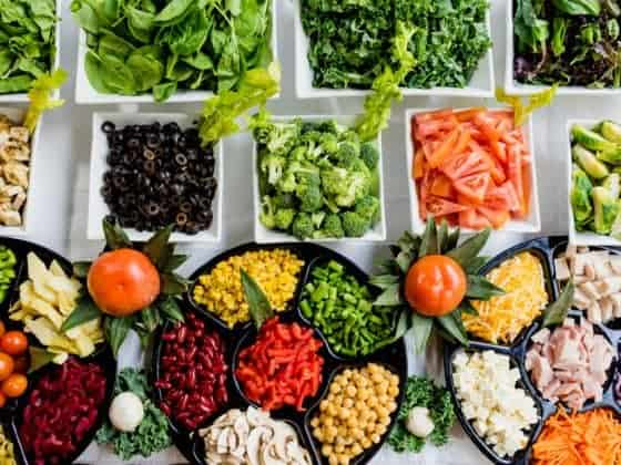 Healthy colourful food