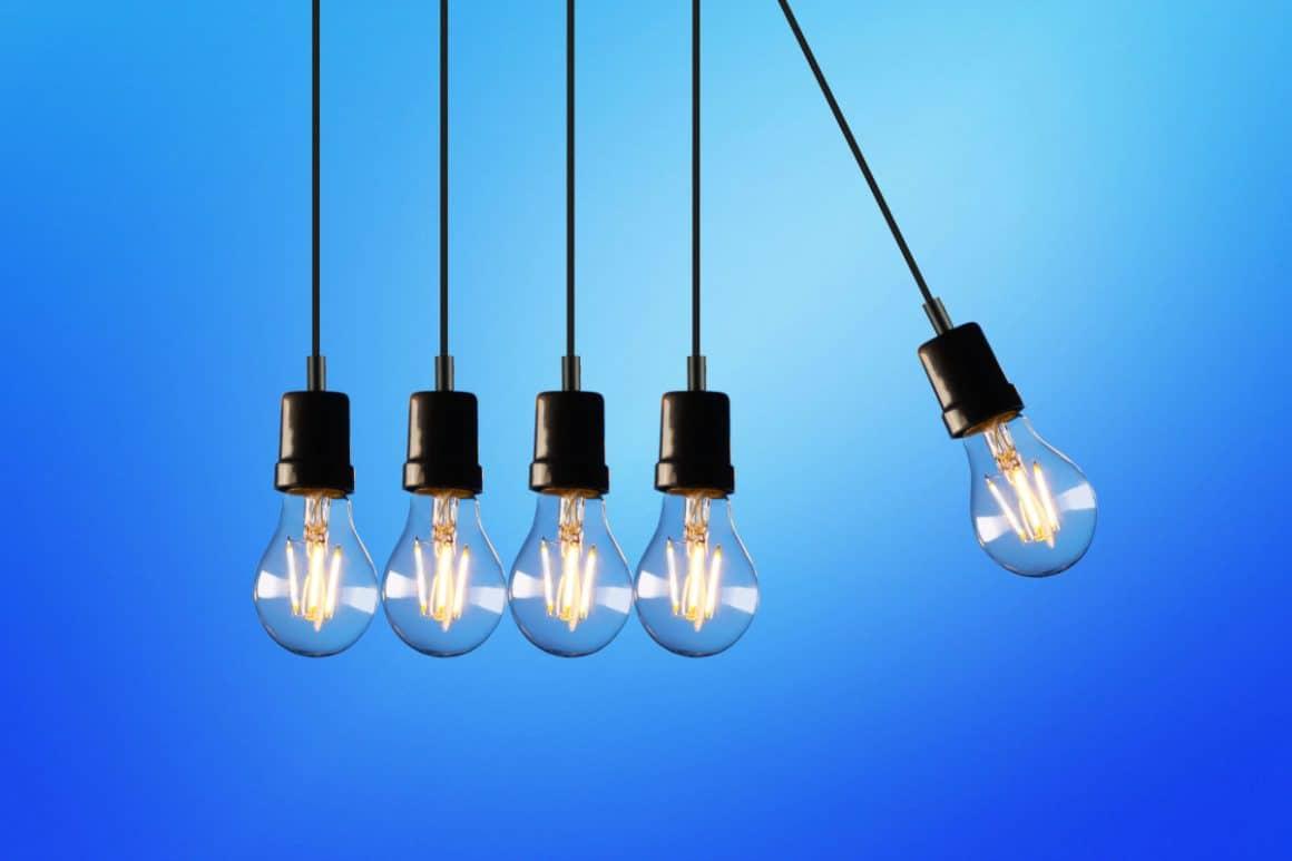 Light Bulbs swinging