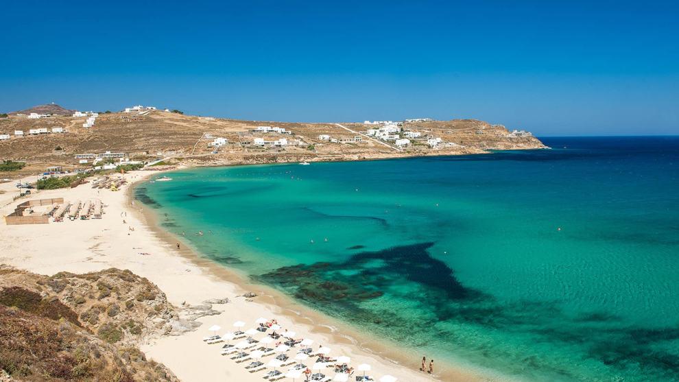 mykonos - sandy beach