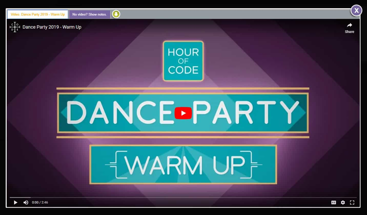 Hour of Code Dance Party