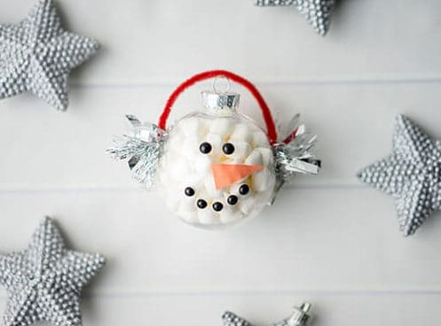 Marshmallow-Snowman-Ornament