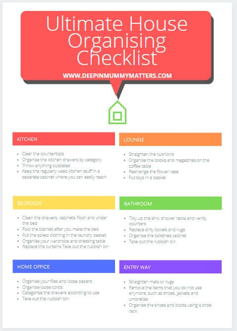 Ultimate House Organising Checklist
