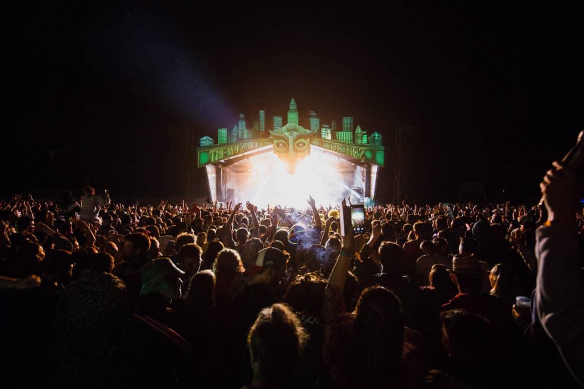 Nozstock - main stage by night - Charlie Rimmer 2019