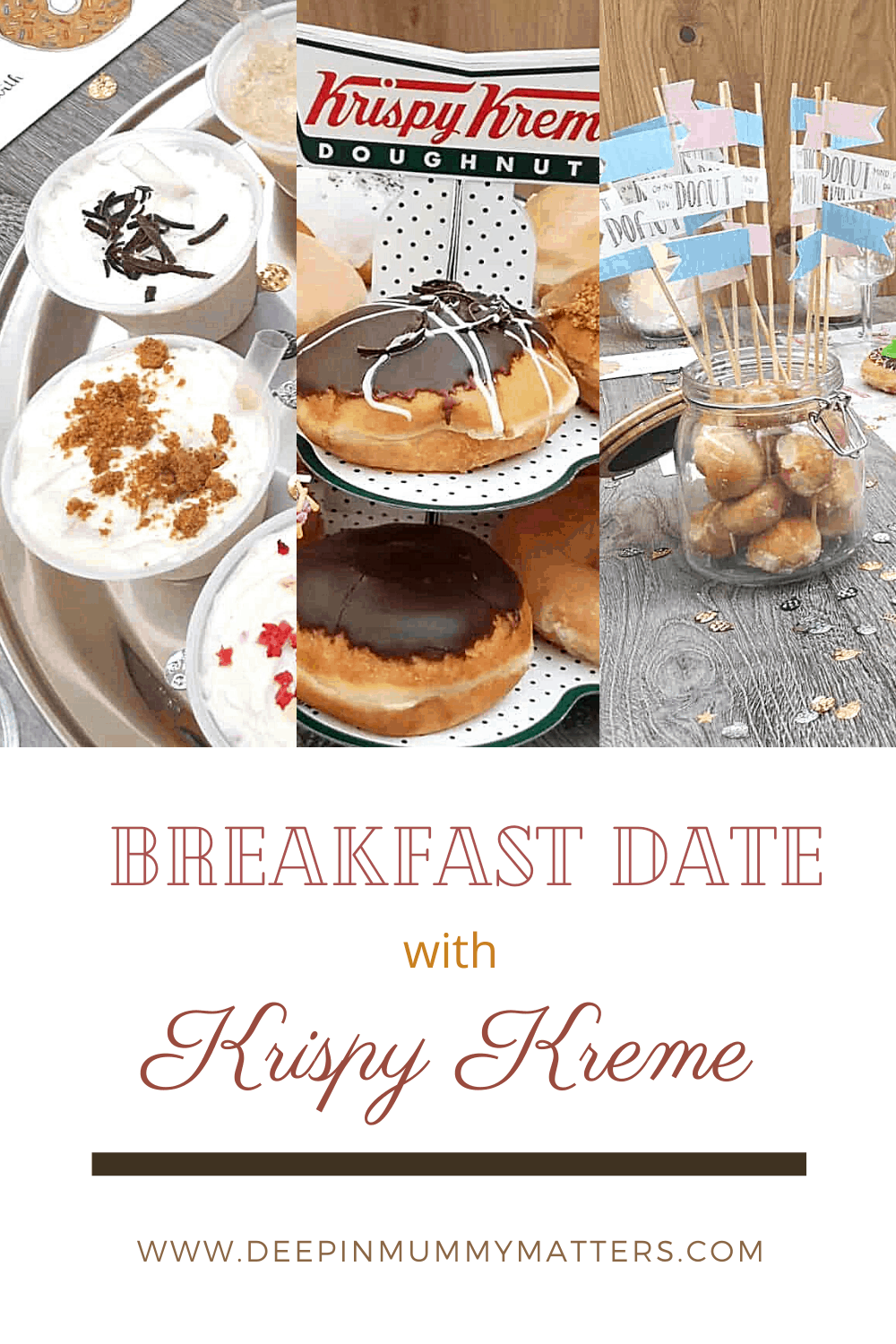 Last Saturday I met up with local blogging buddy for a breakfast date with Krispy Kreme in Queensgate for a doughnut and smoothie banquet.