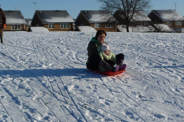 Snow brings out the child in you
