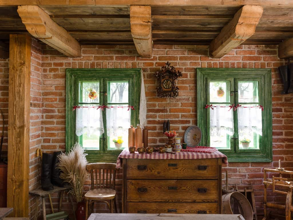 Wood is perfect for a rustic look