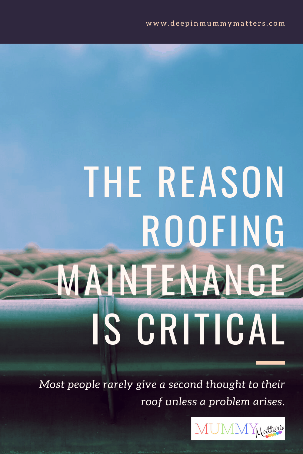 The expected life of a roof is 15-30 years. If you don't take care of it; you may have to replace it much sooner. Here is why roofing maintenance is critical.