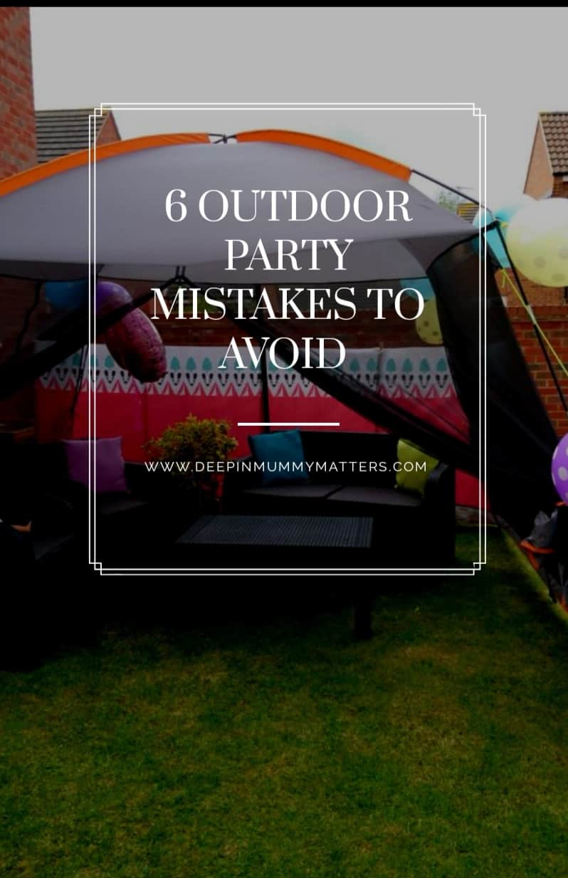 6 outdoor party mistakes to avoid