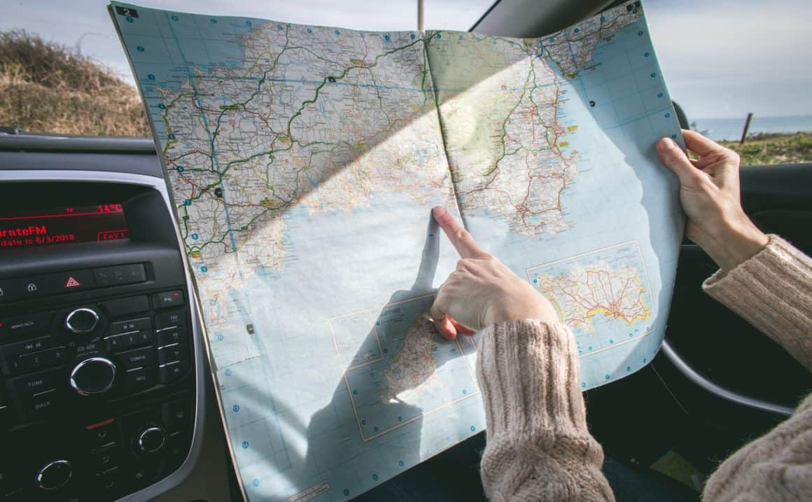 Planning a route with a map