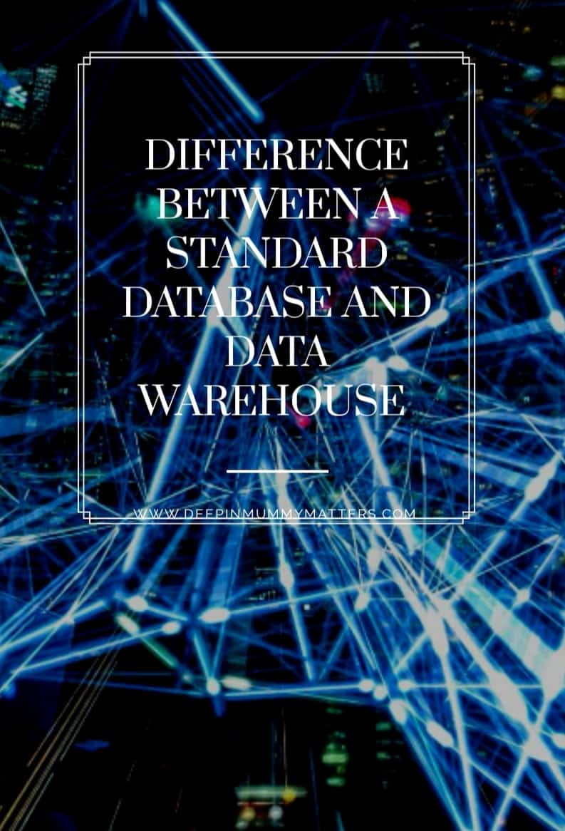 Differences between a Standard Database and Data Warehouse 1