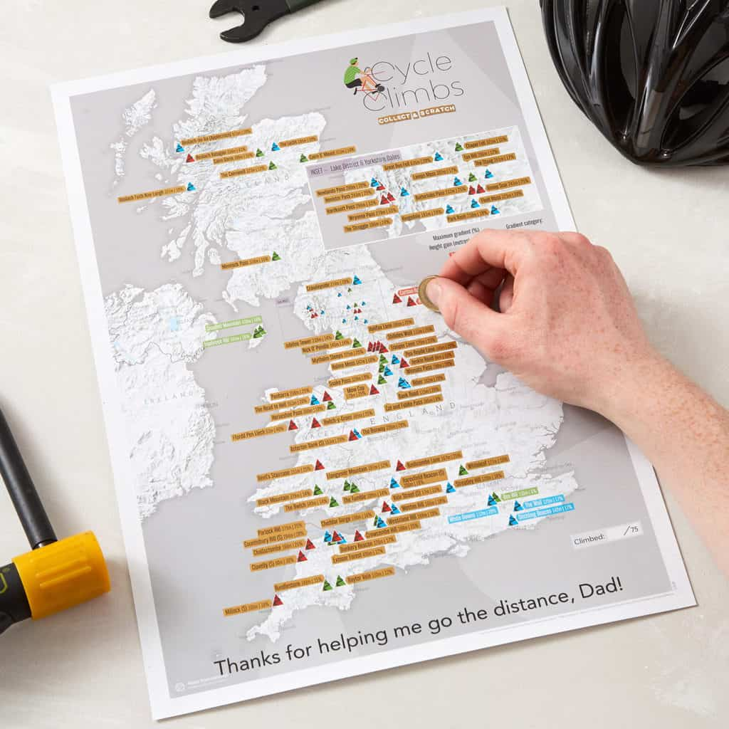 Cycle Climbs scratch map