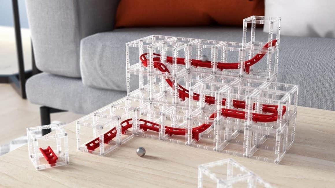 DesignNest MagnetCubes Rollercoaster Marble Run
